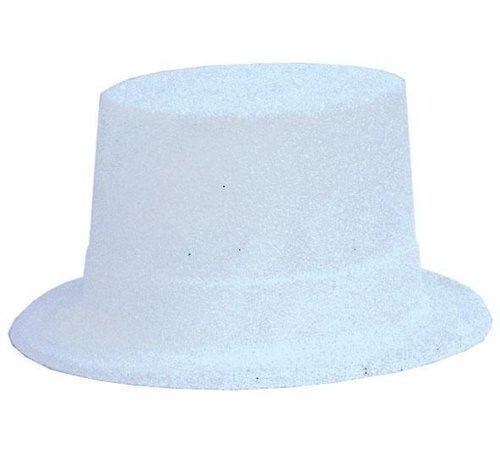 Partyline Chapeau Haut Plastique Brillant Blanc