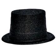 Partyline Chapeau Haut Plastique Brillant Noir