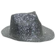 Partyline Borsalino Hat Plastic Glitter Silver