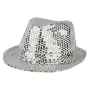 Partyline Hat Funk Sequin Silver