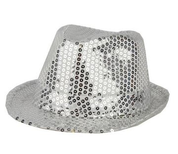 Partyline Hat Funk Sequin Silver