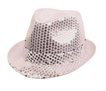 Partyline Hat Funk Sequin Silver + LED