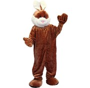 Partyline Kostuum Plush Bruin Konijn | Mascotte Kostuum