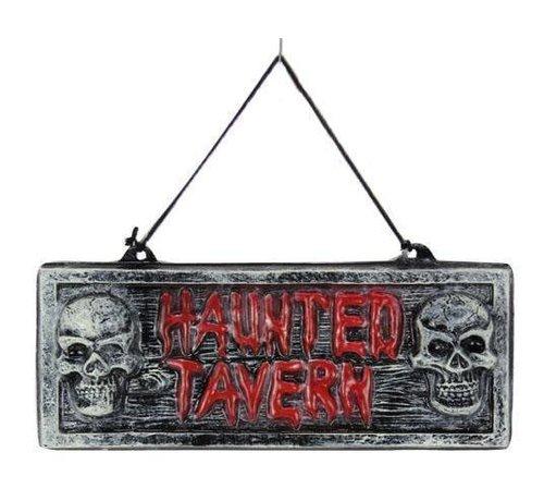 Partyline Panneau déco 'Haunted Tavern' | Décoration d'Halloween