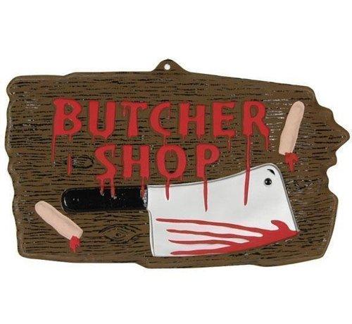 Partyline Panneau Déco 'Butcher shop'   Décoration Halloween