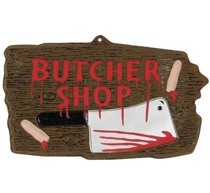 Panneau Déco 'Butcher shop'   Décoration Halloween