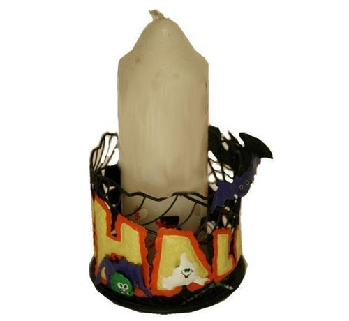 Partyline Candleholder Round (metal)  | Halloween deco