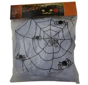 Partyline Spinneweb wit 100g+4spin