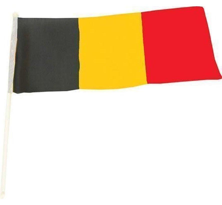 Waving flag on stick 47 x 33 cm | Belgium | Red Devils
