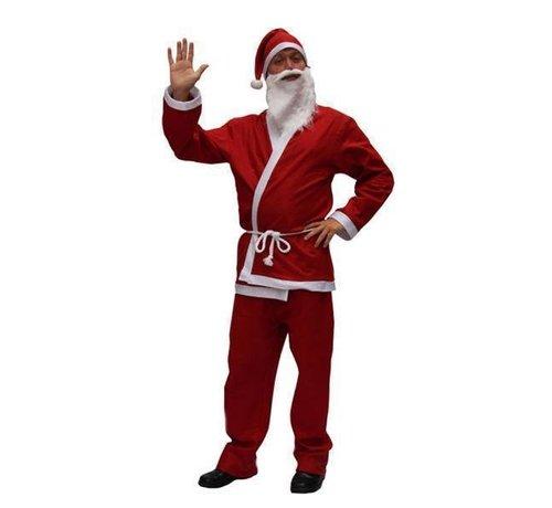 Partyline Basic Kerstman Kostuum    Rood Kerstman pak