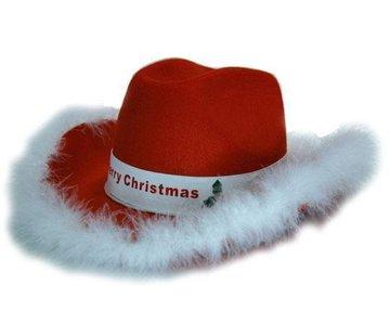 Partyline Hoed Vilt Cowb. kerst