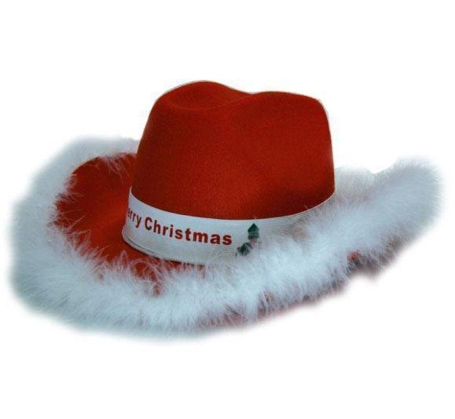 Chapeau feutre cowboy Noël