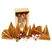 Party Set Laser Gold (10pers x 3pc)