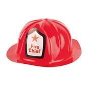 Partyline Casque de pompier | Casque de pompier rouge en plastique
