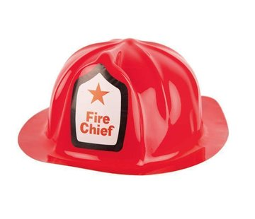 Partyline Fireman's helmet   Plastic red fire helmet