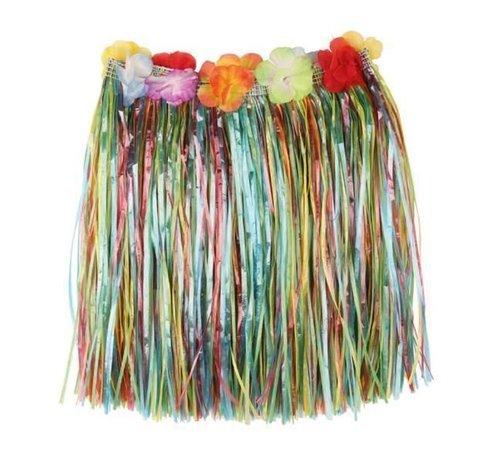 Partyline Raffia Skirt Multi + flowers 40cm