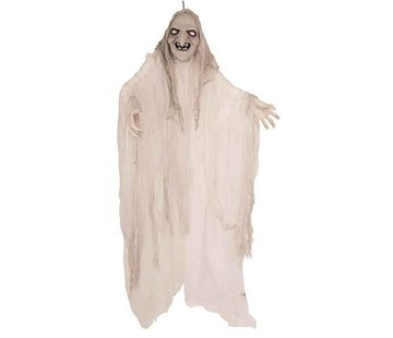 Partyline Decoration Witch white 150cm | Spinning, light and sound creepy effects