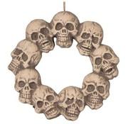 Partyline Doodshoofd krans met licht 48 cm | Decoratie Halloween