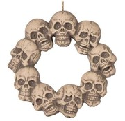 Wreath of skull with light 48 cm