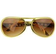 Partyline Glasses Elvis Gold