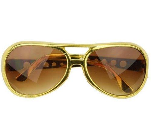 Partyline Glasses Elvis Gold