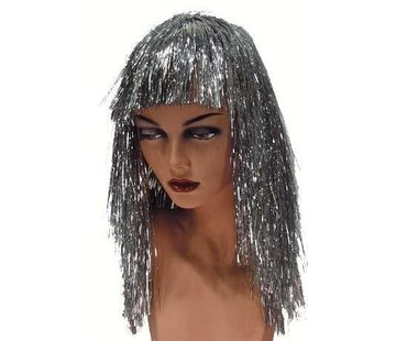 Partyline Wig Tinsel silver