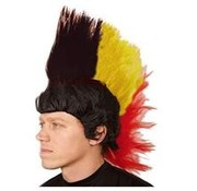 Perruque Mohawk Noir/Jaune/Rouge
