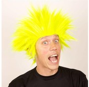 Partyline Wig Electric Shock yellow