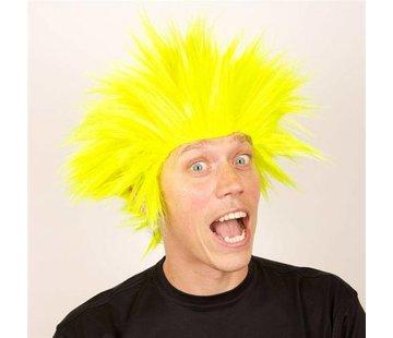 Partyline Pruik Electric Shock geel