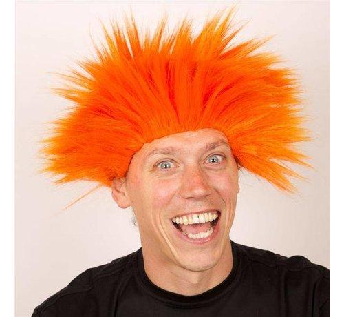 Partyline Pruik Electric Shock Oranje
