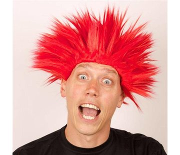 Partyline Wig Electric Shock red