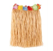 Partyline Raffia Jupe Naturel + Fleurs 40cm