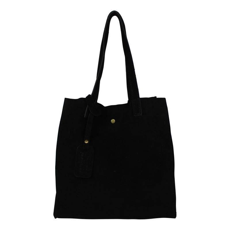 Baggyshop Paper Bag Suède - Black