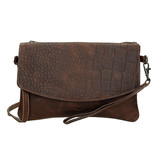 MicMacBags  Everglades clutch - Brown