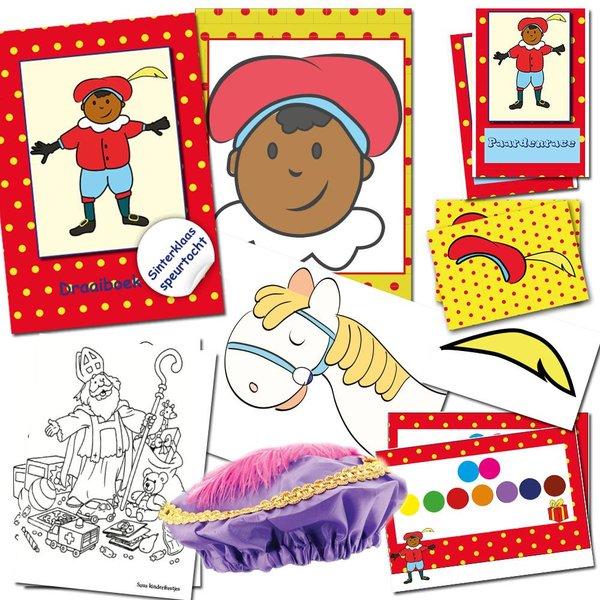 Sinterklaas speurtocht, compleet speurtocht pakket voor een groep van 10 kinderen
