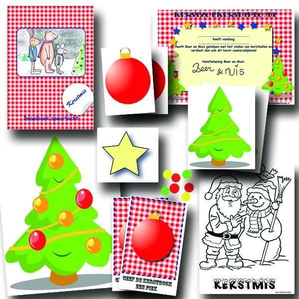 kerst speurtocht, compleet speurtocht pakket voor een groep van 10 kinderen