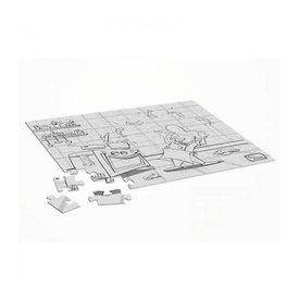 kartonnen puzzel met afbeelding van kok