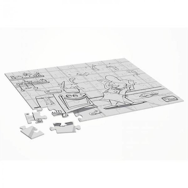 puzzel met afbeelding van kok