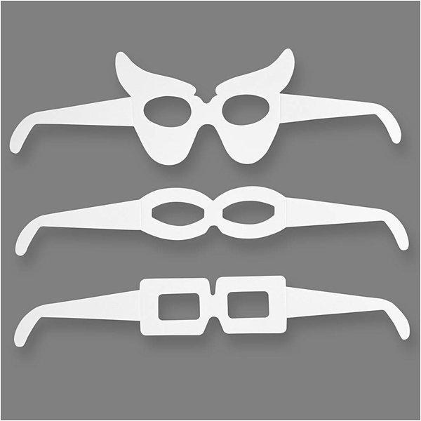 Kartonnen Brillen, h: 4,5-10 cm, l: 32 cm, 16stuks, 230 gr