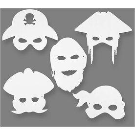 Creativ Company Piratenmaskers, h: 16-26 cm, b: 17,5-26,5 cm, 16stuks, 230 gr