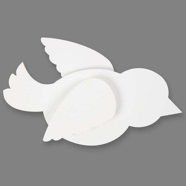 Creativ Company Kartonnen vogels, 10 stuks