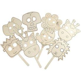 Creativ Company Maskers  van triplex