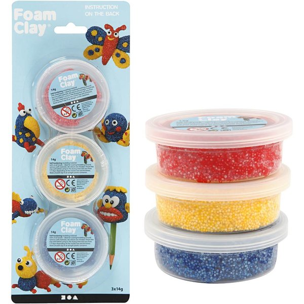Foam Clay Foam Clay®, 3 kleuren
