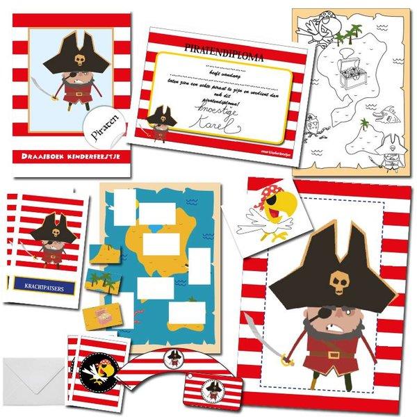 Speurtocht piraten, pakket voor 10 kinderen
