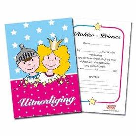 Uitnodiging ridders en prinsessenfeest