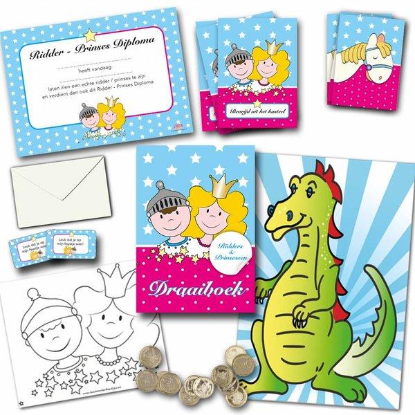 ridders- en prinsessenspeurtocht, compleet speurtocht pakket voor 10 kinderen