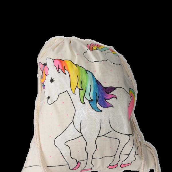 knutselpakket eenhoorn  tas