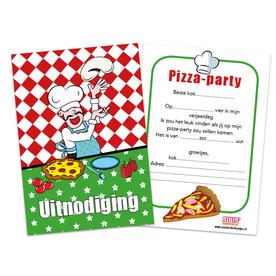 uitnodiging pizzafeestje