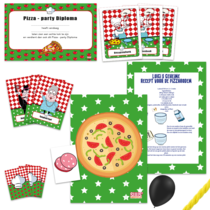postpakket pizzaspeurtocht, 10 kinderen