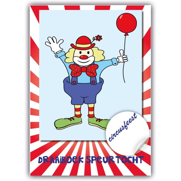 Postpakket circus speurtocht, materialen voor 10 kinderen
